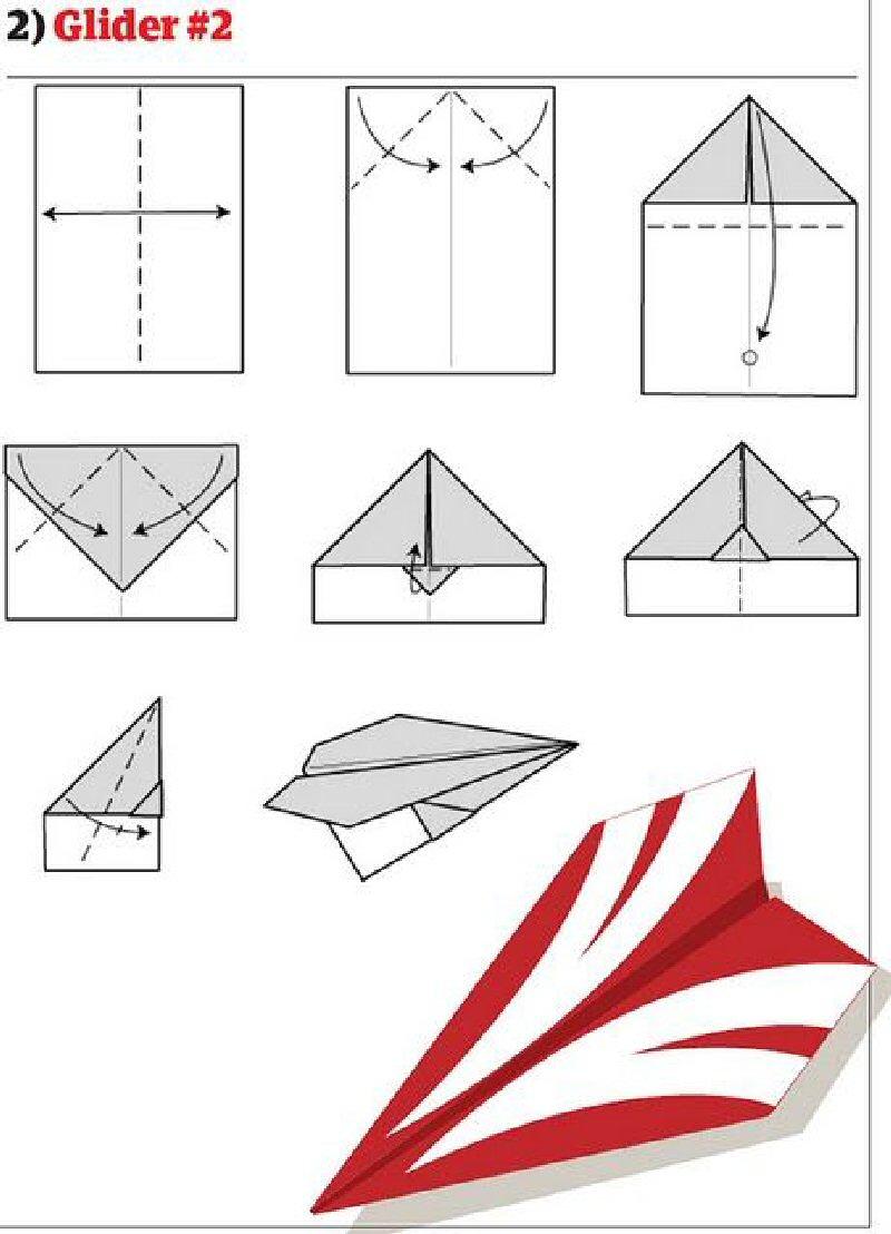 Как из бумаги сделать самолет как настоящий